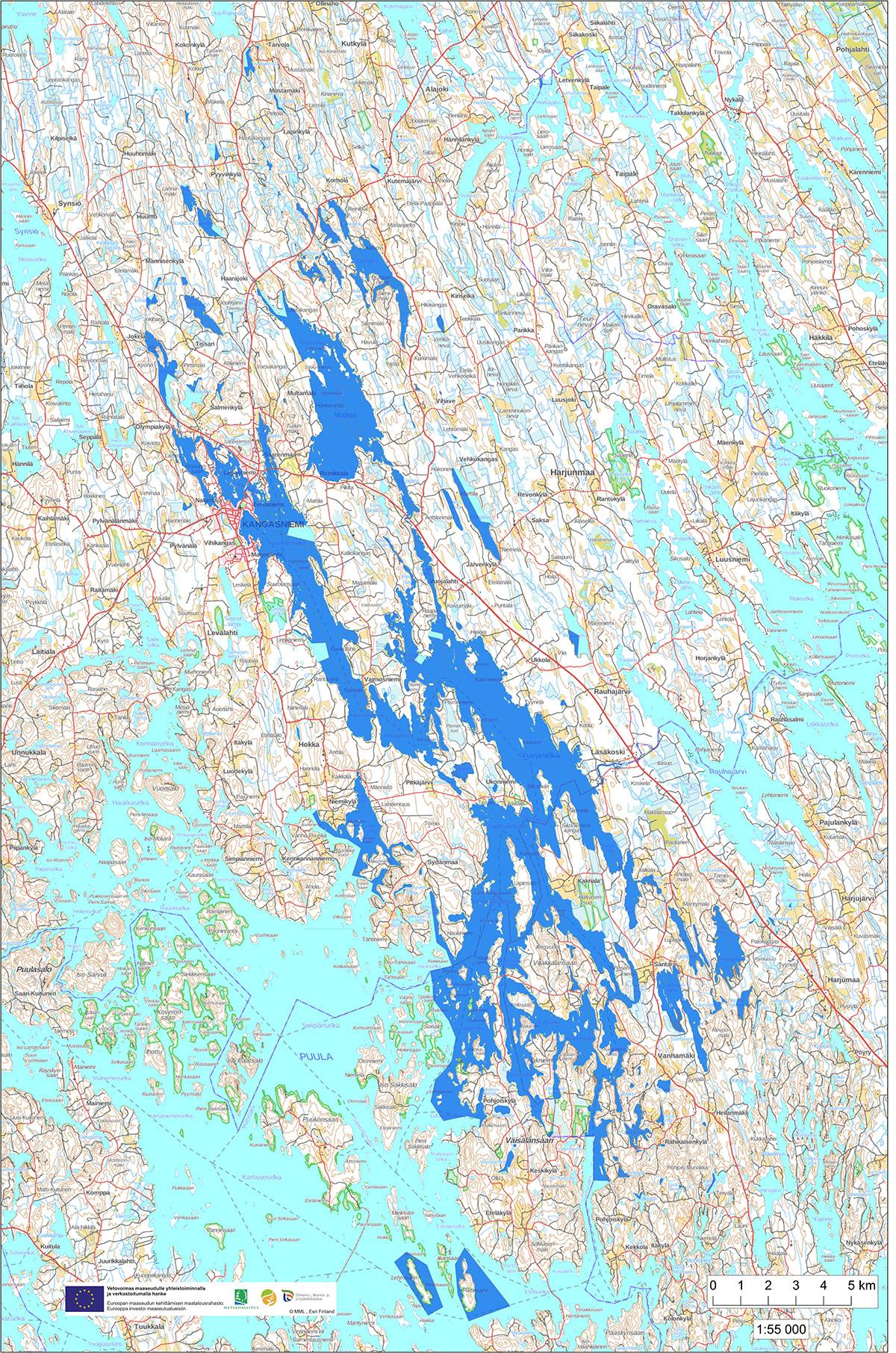 Kartta Pohjois Puulan Osakaskunta